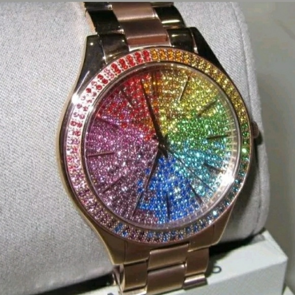7e0a5b53c422 (LAST 1 IN STOCK)NEW Michael Kors pave watch